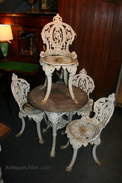 antique cast iron garden table and chairs flip chair bed antiques atlas 4