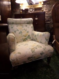 Victorian Upholstered Chair C1890 - Antiques Atlas