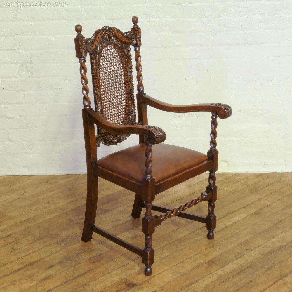 bergere chair for sale desk kijiji ottawa set of six oak jacobean style chairs - antiques atlas