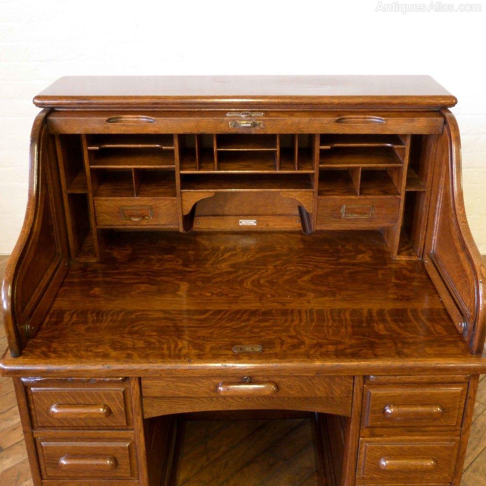 Small Roll Top Desk  Antiques Atlas