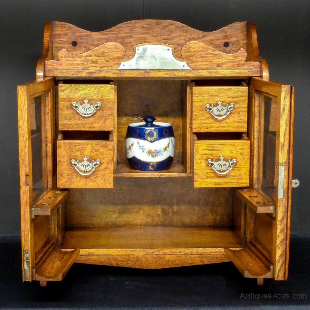 Victorian Oak Smokers Cabinet  Antiques Atlas