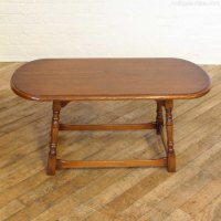 Antiques Atlas - Vintage Oak Oval Coffee Table
