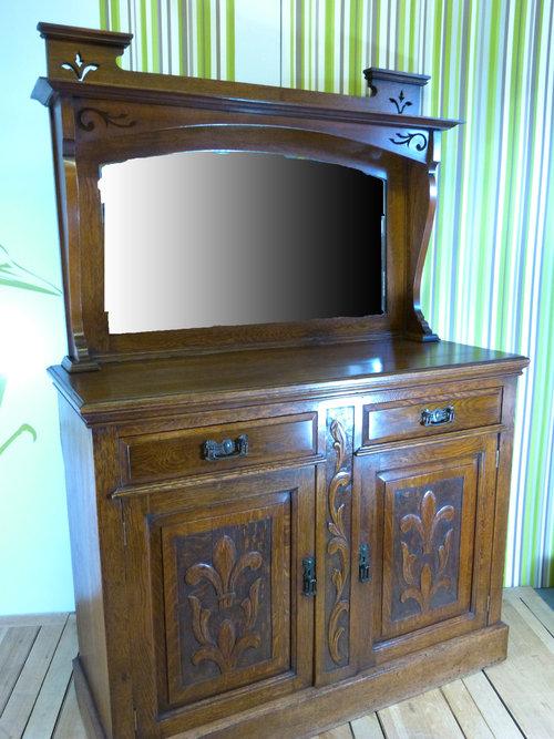 Art Nouveau Oak Dresser  Antiques Atlas