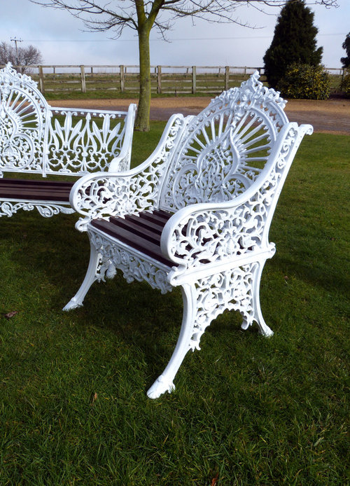 Antiques Atlas  Coalbrookdale Peacock Pattern Bench  Chairs