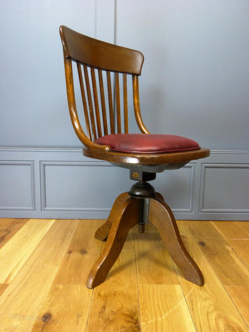 Edwardian Bentwood Desk Chair  Antiques Atlas