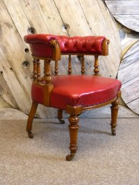 Victorian Captains Desk Chair - Antiques Atlas