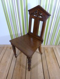 Victorian Gothic Hall Chair - Antiques Atlas