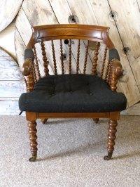 Victorian Oak Occasional Armchair - Antiques Atlas