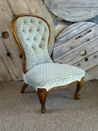 Victorian Upholstered Nursing Chair - Antiques Atlas