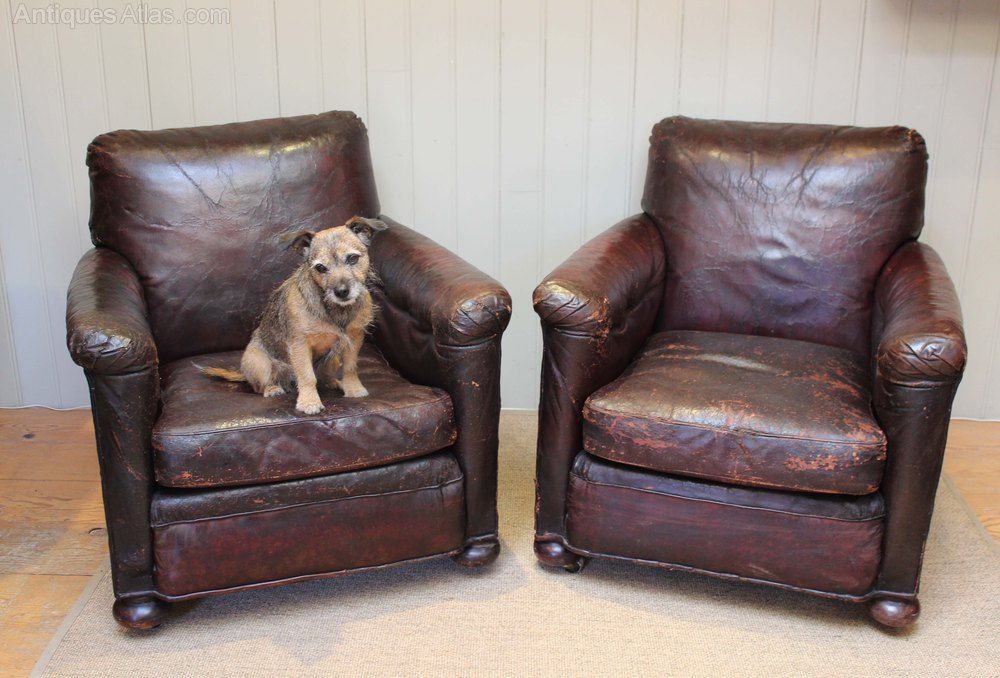 distressed leather armchair uk electric chair power supply 1920s - antiques atlas