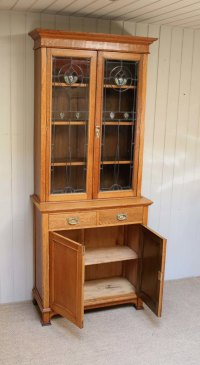 Arts And Crafts Cabinet Bookcase - Antiques Atlas