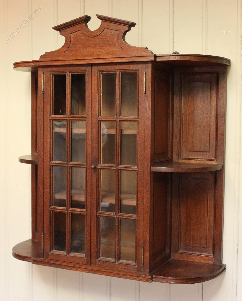 French Oak Wall Cabinet  Antiques Atlas