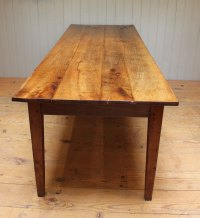 Large Cherrywood Farmhouse Table - Antiques Atlas