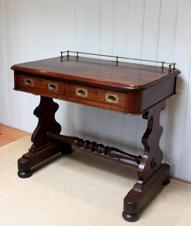 Mid Victorian Mahogany Ships Captains Desk  Antiques Atlas