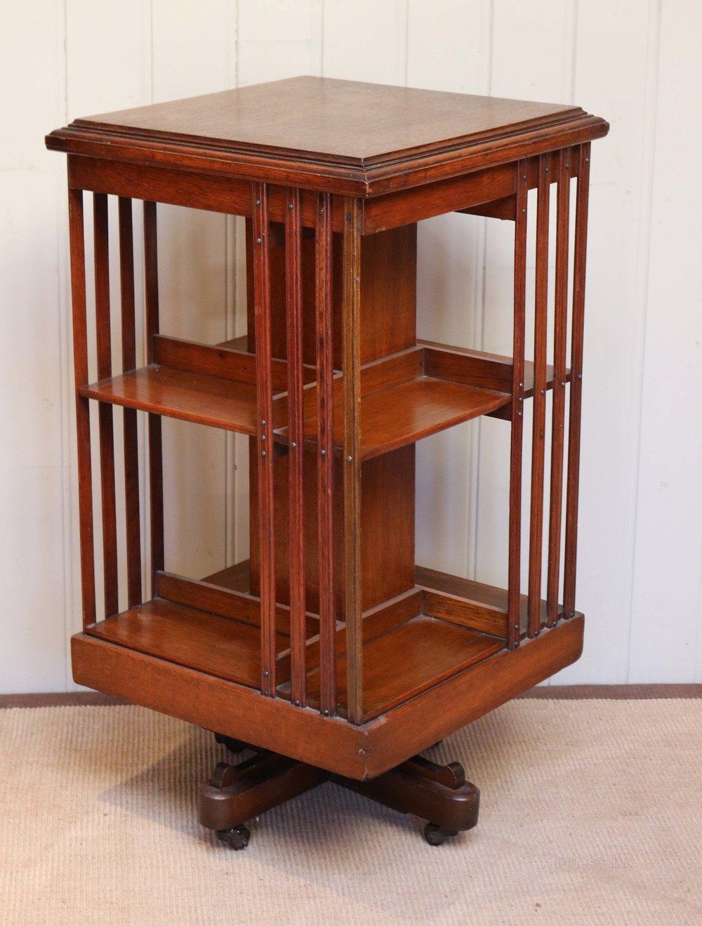 Oak Revolving Bookcase Antiques Atlas
