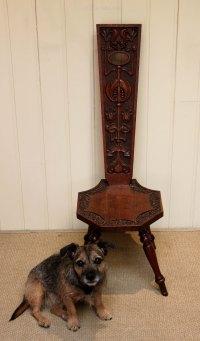 Oak Spinning Chair - Antiques Atlas