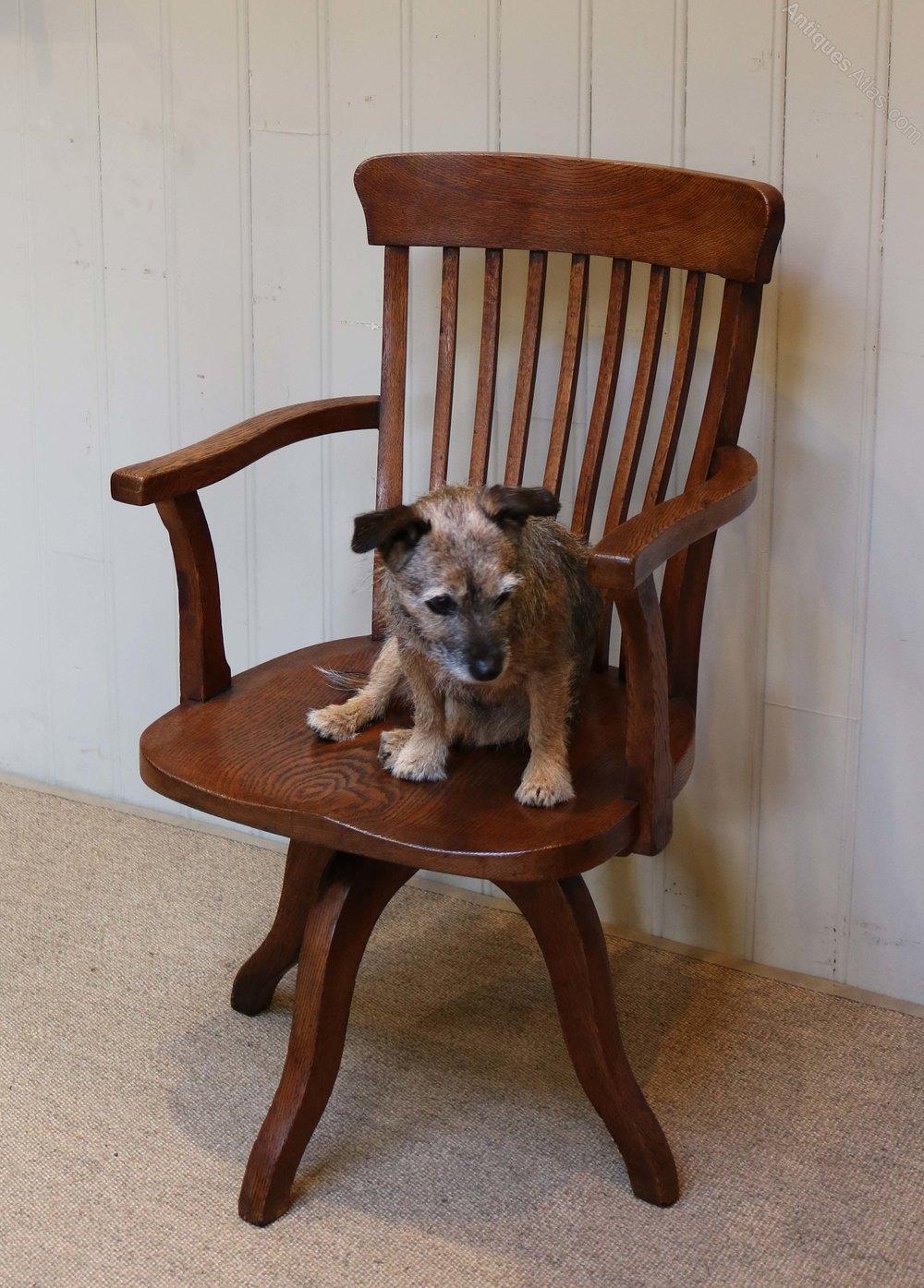 swivel chair sale uk motorized easy oak office - antiques atlas