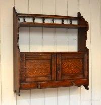 Oak Two Door Wall Cabinet