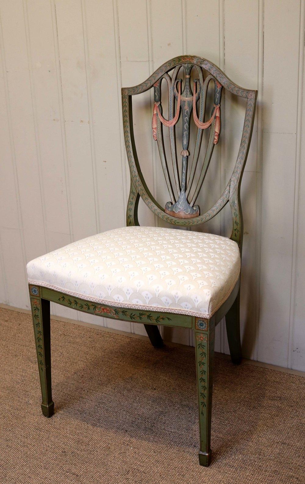Painted Sheild Back Chair  Antiques Atlas