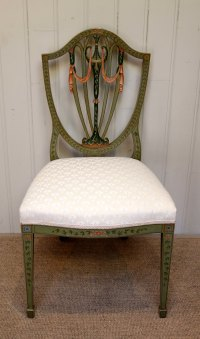 Painted Sheild Back Chair - Antiques Atlas