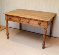 Pine Farmhouse Kitchen Table - Antiques Atlas