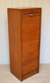 Single Tambour Front Filing Cabinet - Antiques Atlas