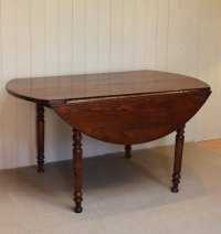 Solid Oak Drop Leaf Round Table
