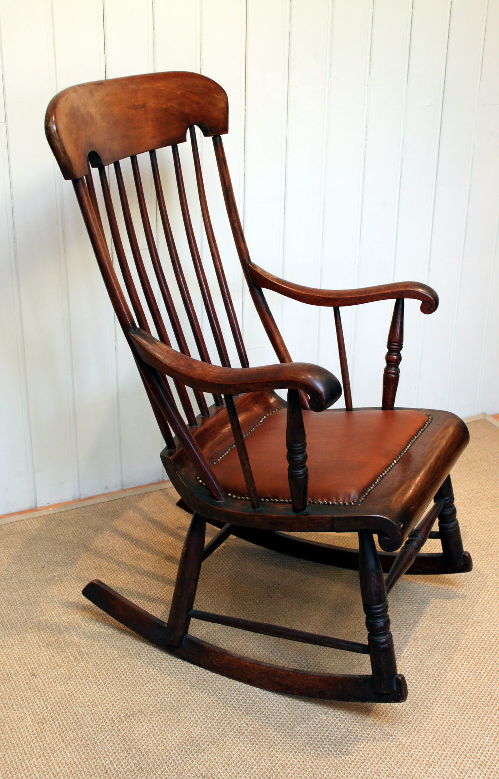 Victorian Fruitwood Rocking Chair  Antiques Atlas