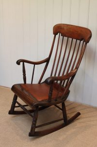 Victorian Fruitwood Rocking Chair