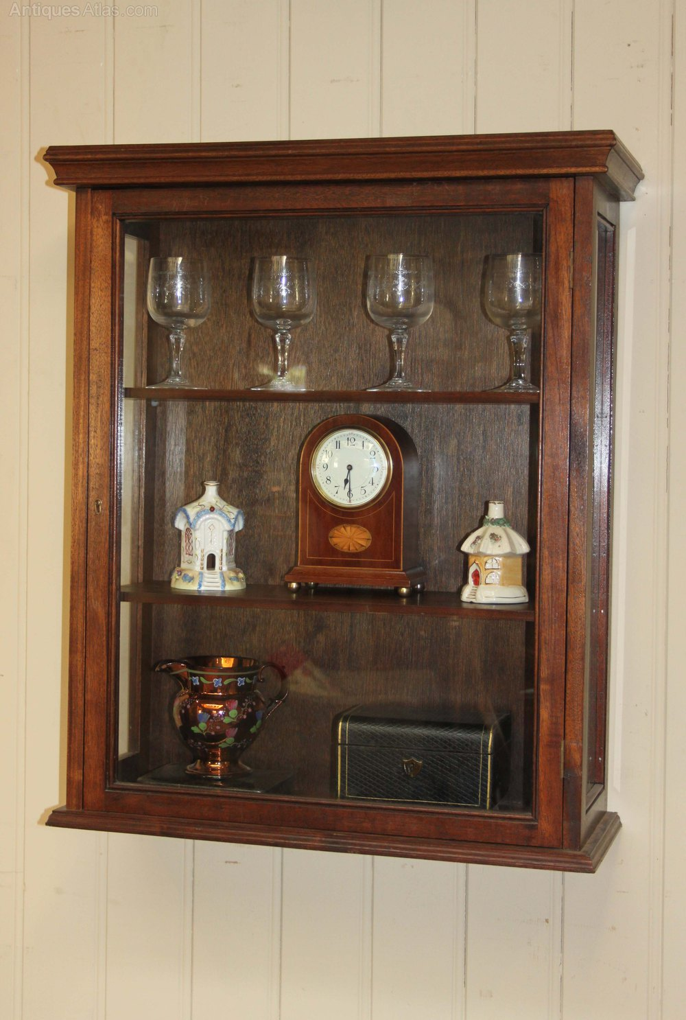 Antiques Atlas  Vintage Mahogany Wall Display Cabinet