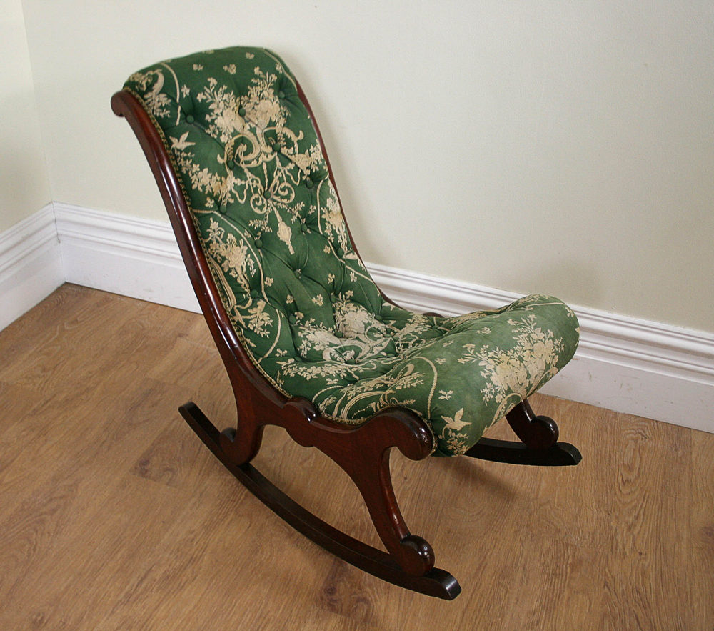 Antique Victorian Mahogany Rocking Chair c1850