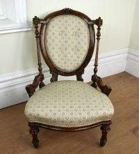Antique Walnut Victorian Nursing Chair (c. 1840 ...