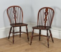 Pair Of Windsor Yew & Elm Kitchen Side Chairs - Antiques Atlas