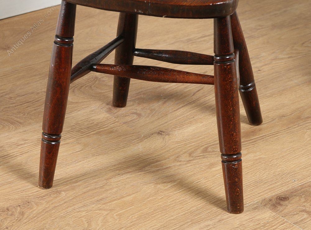 wobble chair uk valencia hanging set of four ash & elm stick back dining chairs - antiques atlas