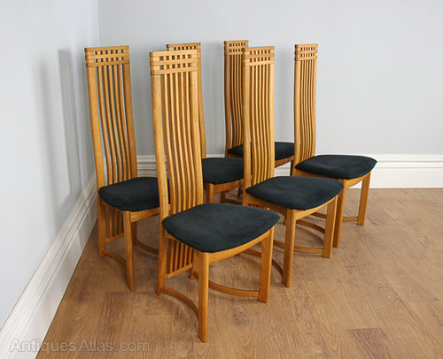 high back dining chair universal cover antiques atlas six actona art deco oak chairs