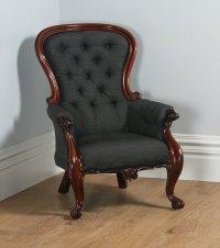 Victorian Mahogany Gentleman's Spoonback Armchair ...