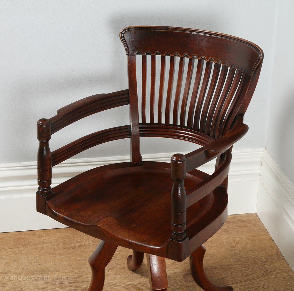 revolving office armchair chairs to help you stand up victorian mahogany swivel desk chair c.1900 - antiques atlas
