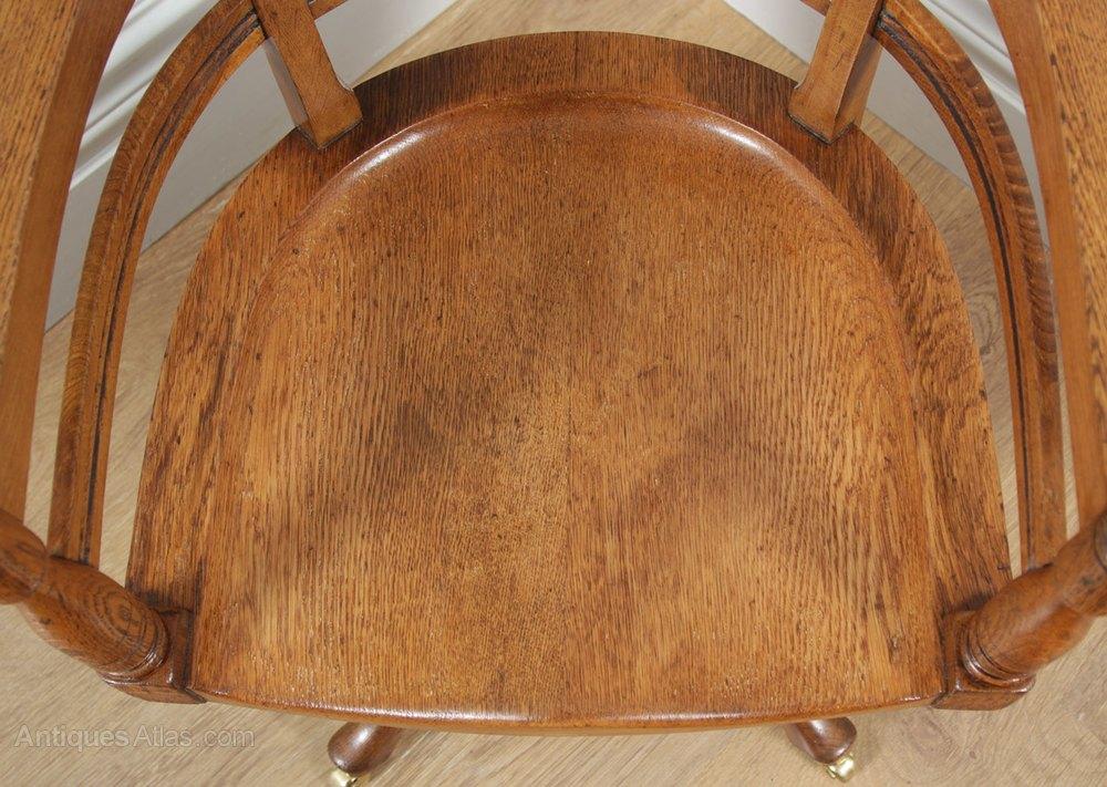 revolving chair colour outdoor glider chairs victorian oak & burr walnut office - antiques atlas