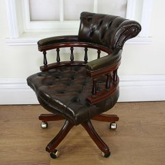Office Chair With Adjustable Arms What Size Aeron Do I Have Antiques Atlas - Victorian Style Leather Revolving