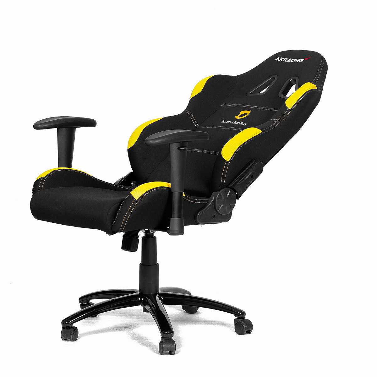 pro gaming chairs uk metal kitchen chair cushions ak racing team dignitas edt yellow large image from a one distribution
