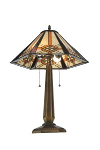 Meyda Tiffany 119659 Crosshairs Mission Table Lamp MD-119659