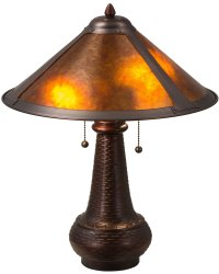 Meyda Tiffany 22210 Dirk Van Erp Mica Table Lamp MD-22210