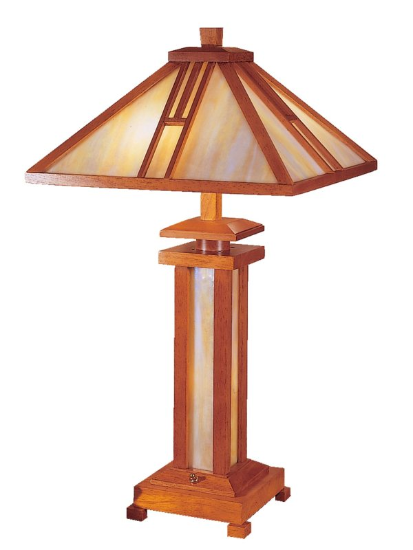 Dale Tiffany 2401 Wood Mission Transitional Table Lamp Dt-2401