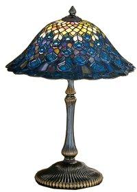 Meyda Tiffany 28368 Peacock Feather Tiffany Table Lamp MD ...