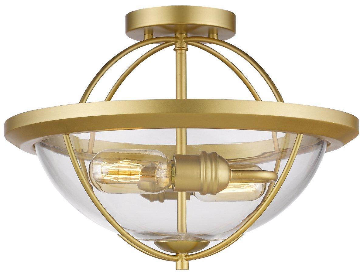 ZLite 3000SFSG Persis Modern  Contemporary Semi Flush Mount Ceiling Light ZLI3000SFSG
