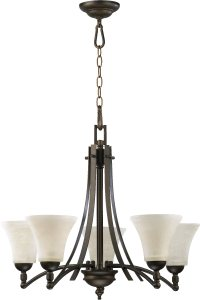 Quorum Lighting 6177-5-86 Aspen Transitional Chandelier QR ...