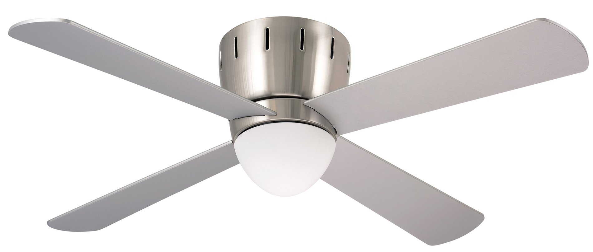 Emerson CF530BS 48 Wyatt Modern  Contemporary Flush Mount Ceiling Fan EMCF530BS