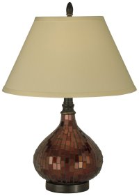 Dale Tiffany PG10618 Copper Mosaic Transitional Table Lamp ...