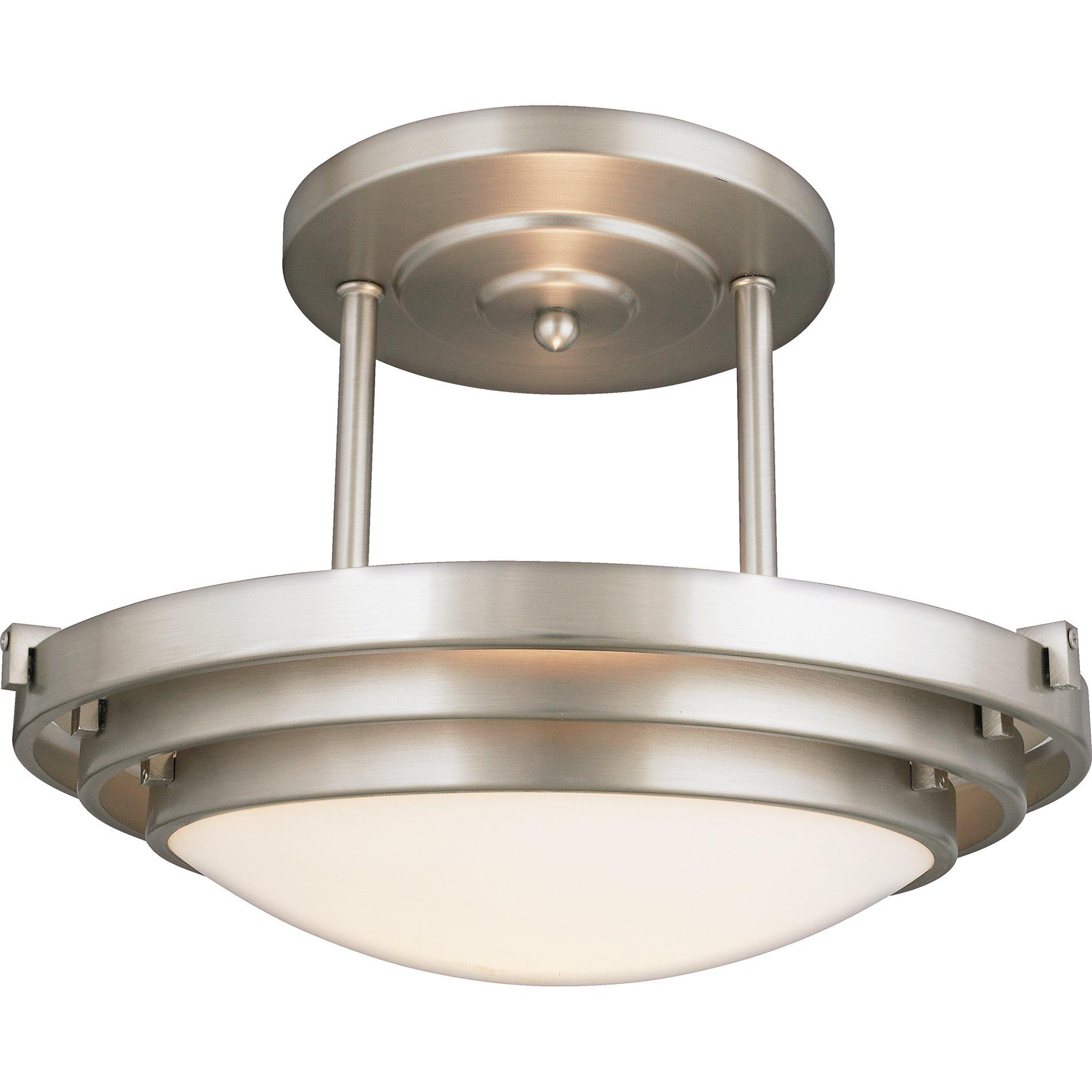 Quoizel EL1284CB Electra Modern  Contemporary Semi Flush Mount Ceiling Light QZEL1284CB