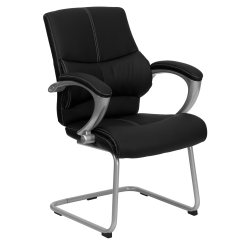 Office Side Chair Green Velvet Tufted Flash Furniture H 9637l 3 Gg Chairs Leather
